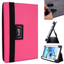 "Kroo Pink Universal Adjustable Folio Stand Cover for 7"" Tablets"