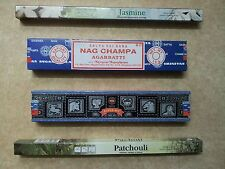 Nag Champa, Super Hit, Jasmine, Patchouli Assorted Incense Sticks of India