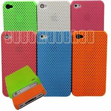 for iphone 4 4s perforated light weight case and screen protector six colors