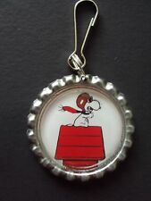 New Snoopy Character Bottle Cap Charm Zipper Pulls Clip Cartoon TV Characters