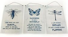 Shabby Chic Vintage Signos De Metal Placas botánico gama Insecto Tapices