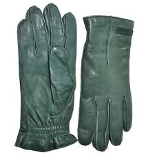 DOLCE & GABBANA Leder Handschuhe Grün Leather Gloves Green Gants Vert 01890