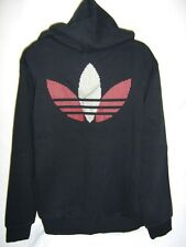NEW ADIDAS CHILE 62 FLEECE MENS TRACK TOP JACKET BLACK RED SILVER