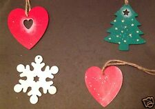 Hand Crafted Christmas Tree Decorations Wood
