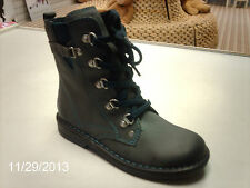 **SALE** ECCO Girls Jade lace up dark grey leather doc martin style boots NEW