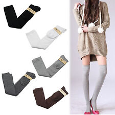 New Cute Girl Fashion Over The Knee Socks Thigh High Cotton Long knit Stockings
