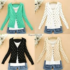 New Autumn Winter casual Women Long Sleeve Cardigan Sweet Sweaters Thin Knitted