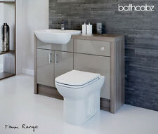 LATTE / DRIFTWOOD BATHROOM FITTED FURNITURE 1200MM