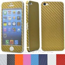 New Carbon fiber Skin Full Body Adhesive Decals Sticker for iPhone 5 5S