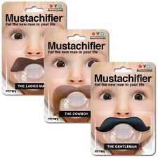 Mustachifier Baby Infant Pacifier The Cowboy The Gentleman Binkie Mustache Beard