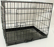 Dog / Puppy Folding Metal Cage, Metal Travel Cage , Folding Crate , Small - XXL