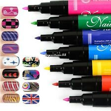 Nail Art Pen Painting Design Tool Drawing for UV Gel Polish  12 colors to Choose
