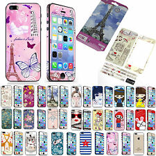 Bling Glitter Full Body Screen Protector Decal Skin Sticker For iPhone 5 5S