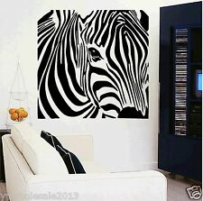 animal Zebra head wall decal sticker kids living room decor vinyl removable
