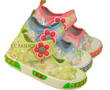 Infant Toddler Girls Canvas Glittor Shoes Size 3-11 (19-30)