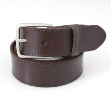 "$40 Nautica - Genuine Leather Dark Brown Casual 1.25"" Delta Men's Belt S M L XL"