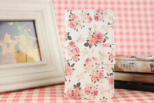 New Pink Flower Leather Full Cover Case For  Samsung Galaxy mobile phones