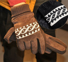 Hot Mens Winter cold-proof Thick velvet lining Riding Comfort Super Warm Gloves