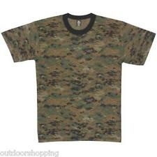 DIGITAL WOODLAND CAMOUFLAGE USA MADE KIDS SHORT SLEEVE T-SHIRT-Very Comfortable