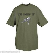 OLIVE DRAB GREEN UZI DOES IT IMPRINTED 1 SIDED T-SHIRT - Short Sleeve Tee