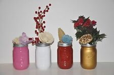 NEW Vintage Looking Decorated BALL MASON JARS 16oz Hand-Crafted Painted