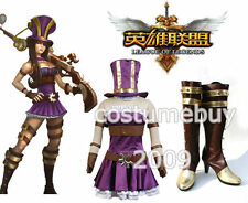 LOL League of Legends Sheriff of Piltover Caitlyn Cosplay Costume Boots Full Set