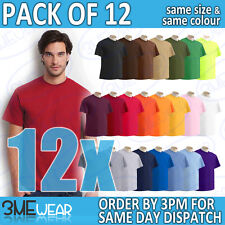 12x GILDAN ULTRA T-SHIRT PLAIN UNISEX MEN WOMEN ADULT TEE BULK PACK TOP 2000