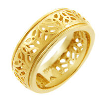 14K Yellow Gold Celtic Triquetra Band - Celtic Trinity Knot Ring (Made in USA)