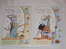 SON 18TH OR 21ST TRADITIONAL BIRTHDAY CARD JJ NEW MALE VERSES INSERTED QUALITY