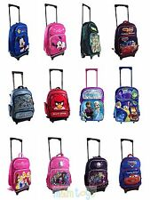 "Disney Inside Out Frozen TMNT 16"" Rolling Luggage Travel Backpack for Kids"
