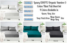 Luxury 400TC Bamboo & Cotton Sheet Set Queen / King Bed Size - Colors Choice
