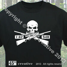 7.62x54r Rifle Crossbones T-shirt - 762x54 bolt action rifle skull tee shirt