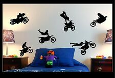 MOTOCROSS MOTO X KIDS VINYL WALL ART GRAPHICS STICKERS ANY COLOUR !!!!