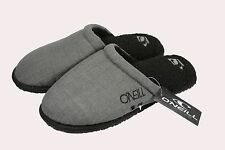 O'Neill RICO Charcoal Gray Sherpa Lined Padded Insole Rubber Sole Men's Slipper