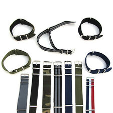 NATO Watch Strap Band Army Military Nylon One Piece Mens G10 18mm 20mm 22mm S38