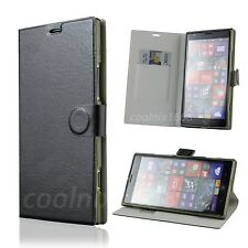 LUXURY WALLET Slim Leather flip Soft case cover w/ Stand for Nokia Lumia 1520