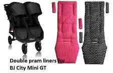 Double pram liners for BJ City Mini GT Double Pushchair
