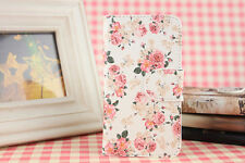 New Card Holder Pink Flower PU leather Full Case Cover For Mobile phones