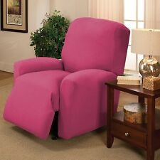 PINK JERSEY RECLINER STRETCH SLIPCOVER, COUCH COVER, FURNITURE RECLINER COVER