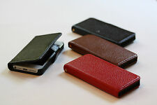 Genuine Leather Flip Cover Case for Apple iPhone 5 ( Free screen film)