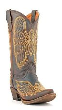 Corral Youth's A1028 Western Boots Brown/Gold Wing And Cross NIB A1028