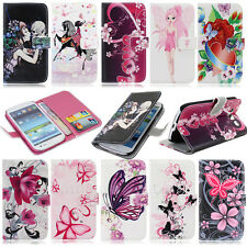 For Samsung Galaxy S3 SIII i9300 Leather Flower Wallet Purse Protect Case Cover