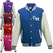 KIDS VARSITY COLLEGE BOYS BASEBALL JACKET - PLAIN or PERSONAL INITIALS LETTERMAN