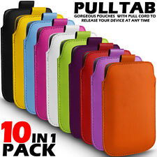 10 IN 1 PACK PULL TAB LEATHER POUCH CASE COVER FOR VARIOUS SAMSUNG MOBILES