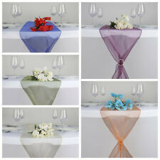"""20 pcs 14""""x 108"""" Sheer Organza Table Top Runners Wedding Party Decorations SALE"""