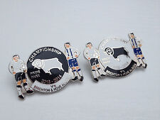 DERBY V BRIGHTON 2013/14 CHAMPIONSHIP MATCH DAY BADGE - FOOTBALL BADGE