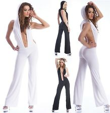 GOGO SeXy KyLie OUTFIT Langoverall Hosenanzug Kapuze Overall Clubwear S-M M-L