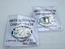 ASTON VILLA V DERBY COUNTY 6TH ROUND 1946 CUP SERIES LIMITED EDITION PIN BADGE
