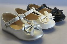 Girls Ballet Flats w/Bow Mary Jane (Amy31a) TODDLER Flower Girl Pageant Dress