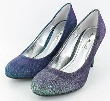 Ladies Anne Michelle Two Tone Effect Heeled Shoes 2 Colour Options